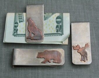 Copper Silhouette Money Clip- Groomsmens Gifts