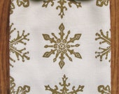 50% OFF SALE GOLD Organic all over pattern snowflake towel