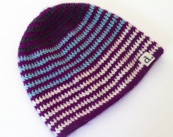 Striped Slouchy Hat -- FREE SHIPPING