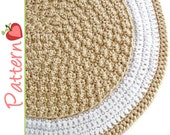 Round Rug Crochet Pattern pdf, A Quick to Stitch Project