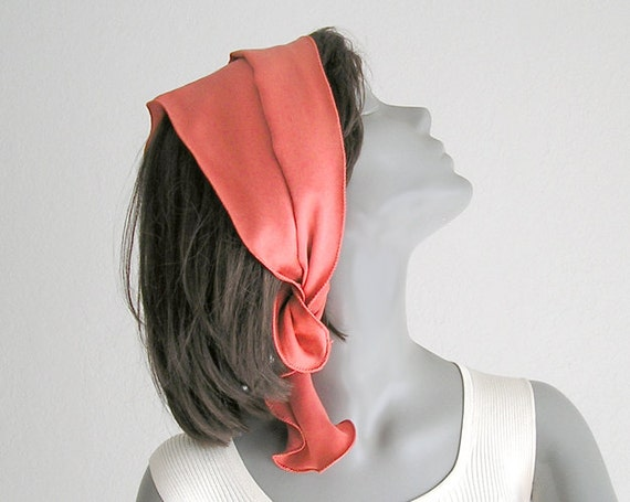 Ponytail Scarflette Head Band Scarf Or Hat Band Pony Tail