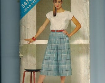 See and Sew Misses' Top and Culottes Pattern 5478