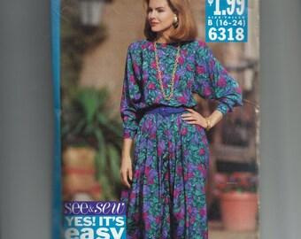 Butterick Misses' Dress Pattern 6318