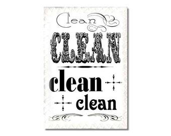 Dishwasher Clean Dirty Magnet Sign Typography shabby hipster vintage style fonts NOW Stainless Steel Option Wife Gift