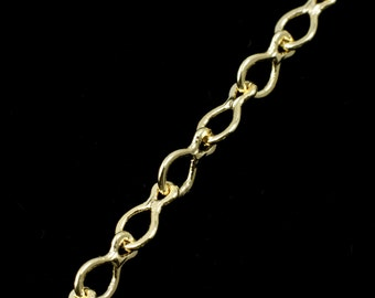 Bright Gold, 3mm x 4mm Drop Link Chain #CC151