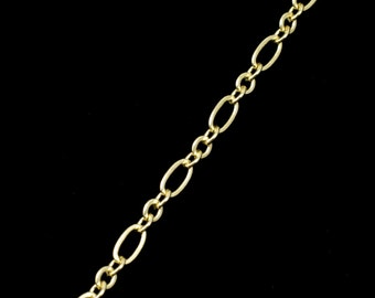 Bright Gold,  2mm Rings & 4mm Ovals Chain CC147