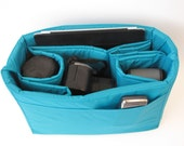 Camera Bag Insert in Turquoise 4 Lens Sleeve - Ready to Ship