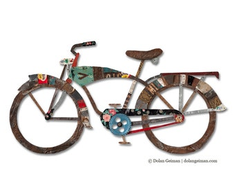 Vintage Bicycle Wall Sculpture in His or Hers Style