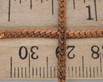 8 feet raw brass textured flat curb chain 2x .5mm thick - f4102