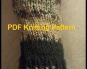 PDF EASY Knitting Pattern for Short or Long Hand-warmers Fingerless Gloves for Teen or Adult Uses Straight Knitting Needles
