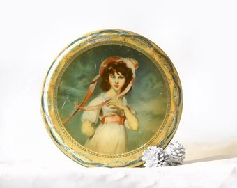 Vintage Litho Biscuit Tin, Peek Frean England, Lawrence Pinkie Portrait