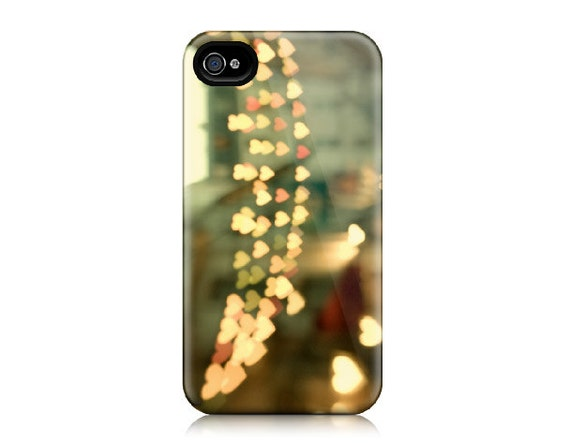 iPhone 4/4S Case, Plastic iPhone Case - Paris Street, Hearts, Romantic Travel Photography - Looking for Love