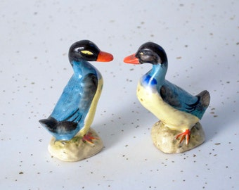 Items Similar To Vintage Yellow And Robins Egg Blue Ducks