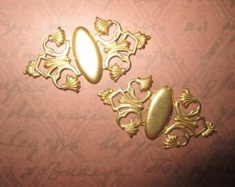 Art Deco Cameo Stampings Brass Bracelet on Etsy x 2