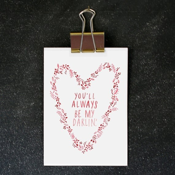 RESERVED for AGCRMC / 5x7 CARD : you'll always be my darlin