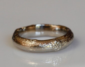 Men's Willow twig ring, 14k gold, 5mm, your size