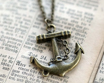 Brass Anchor Necklace number 2