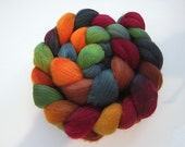 Handpainted Organic Polwarth Spinning and Felting Fiber 4 oz. Braid OPJ6d