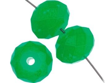 NEW - 8mm x 10mm Dazzle-It Ori Crystal Neon Green Beads - 23 Beads - 9000701