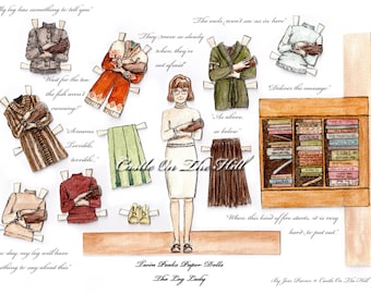The Log Lady Margaret Paper Doll  - Twin Peaks Theatre - Twin Peaks Paper Doll