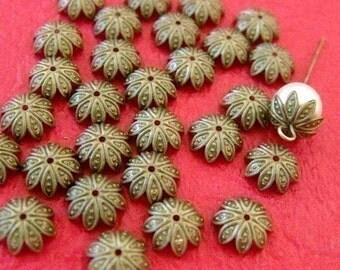Sale 100pcs 10mm Antique Bronze Filigree Caps A025