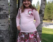 Cottage Chic Skirt Set for Girls Size 8 Ready to Ship!!!!