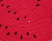 PATTERN - Crocheted Watermelon Rug Pattern - Unique Home Decor Idea