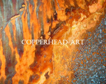 8 x 10 Original Instant Digital Download of Copper Patina Painting for Commercial Use