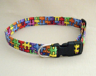 Puzzle pieces - Dog Collar