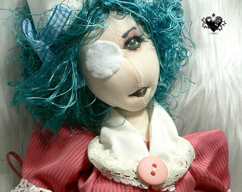 Sweet Peach - Psycho Candy Striper Guro Nurse OOAK Art Doll
