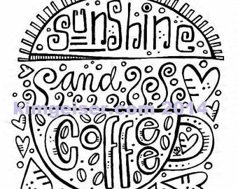 Sunshine and coffee digital download