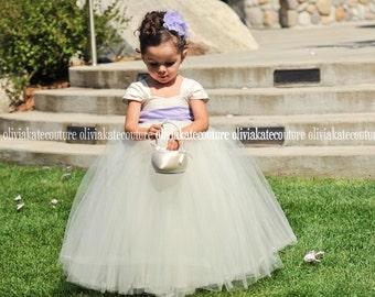 NEW Flower Girl Dress & Extra Wide Sash