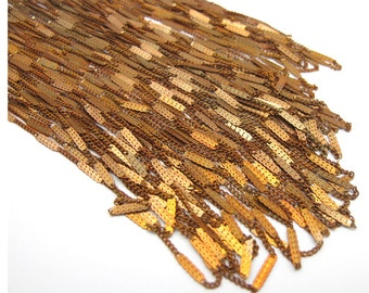 Vintage Red Brass Pressed Curb Chain Necklaces (8X) (C539-A)