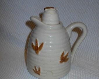 Vintage Beehive Honey Pitcher