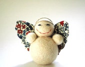 Little Bella Angel Decoration with floral wings Christmas Decoration or Ornament