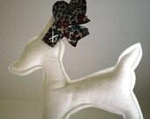 Liberty Print Reindeer Christmas Decoration or Ornament