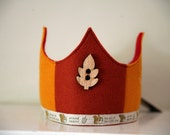Wool Felt Crown - Autumn and Squirrely