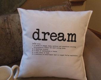 Dream definition throw pillow cover, decorative throw pillow cover