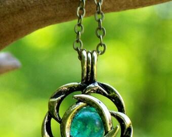 Recycled Vintage Mason Jar Brass Blossom Necklace