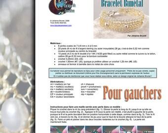 Tutoriel Bracelet Bimétal - POUR GAUCHERS