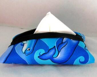 Whales Tissue Case Dolphins Pocket Size Tissue Holder