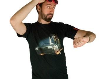 Back to the Future T-Shirt, Michael J Fox, Fox T-Shirt, Delorean T-Shirt, Time Travel T-Shirt, Black T-Shirt