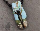 Handmade Spring Glass Goddess Bead by Louise Ingram