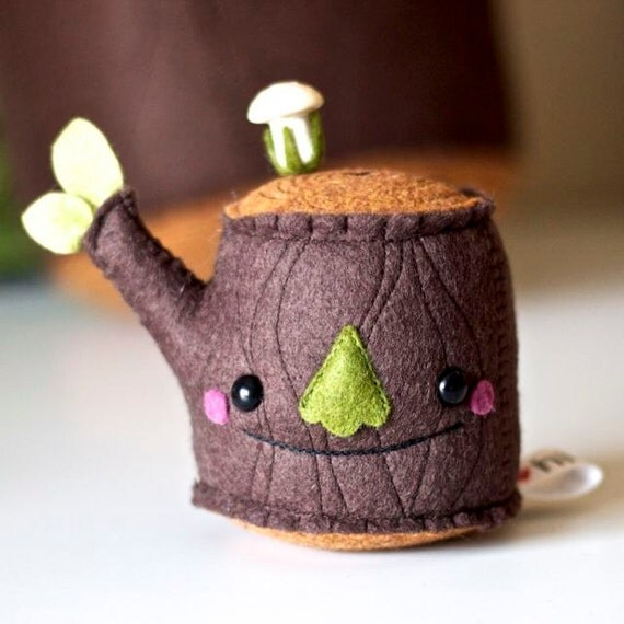 Pincushion- Mr Tree Stump Plush- Medium Size