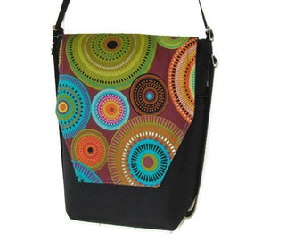 Convertible Backpack - Sling Purse - Shoulder Bag - iPad Purse - REMOVABLE FLAP - Bohemian Jewels