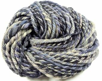 ATLANTIC (Chunkee Munkee) 100% Corriedale wool Handspun Yarn, 3ply, 54yds/49.4m 3.6oz/102g OOAK