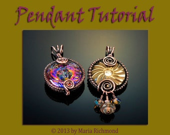 Buttoned Up Wirewrapped Pendant Tutorial