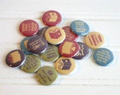 15 Book Lover Buttons