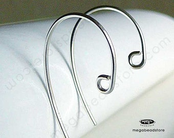 10 pcs 925 Sterling Silver Simple Hook Earwires Ear Wire Earring F418