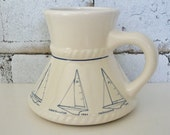 Vintage Nautical Mug America's Cup 25th Defense Yachts